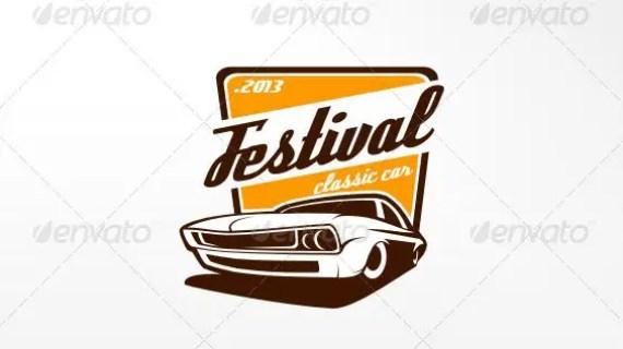 Festival Classic Car Logo Template