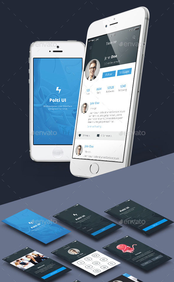 Phone6 Plus OS8 Style App UI
