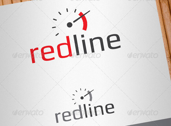 Redline High Performance Auto Parts Logo Template
