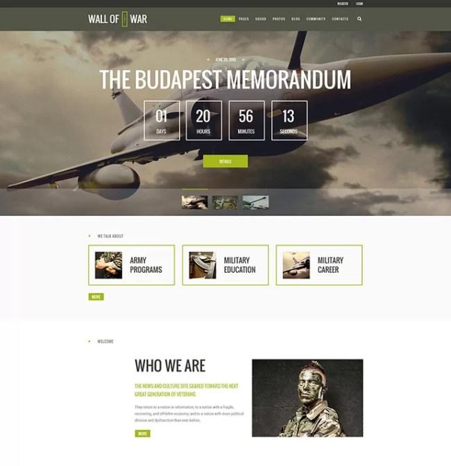 Veterans & Military Service Theme