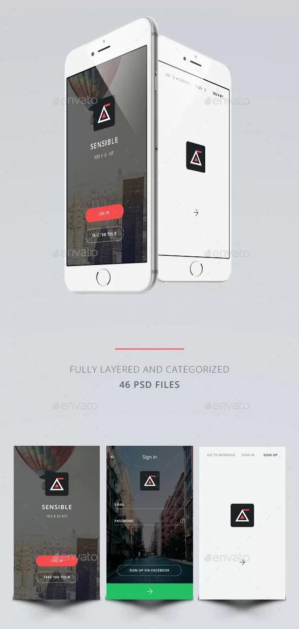eCommerce OS8 Style App UI