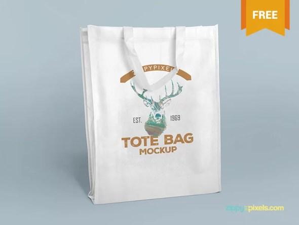 2 Free PSD Tote Bag Mockups