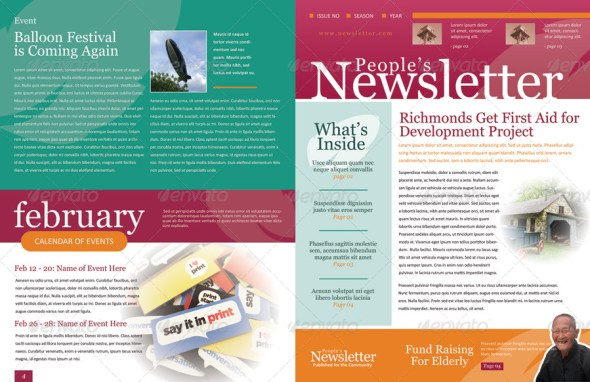 46+ Printable Newsletter Templates In Psd & Indesign Formats