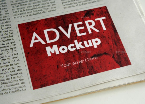 7 Newspaper Ad Mockups