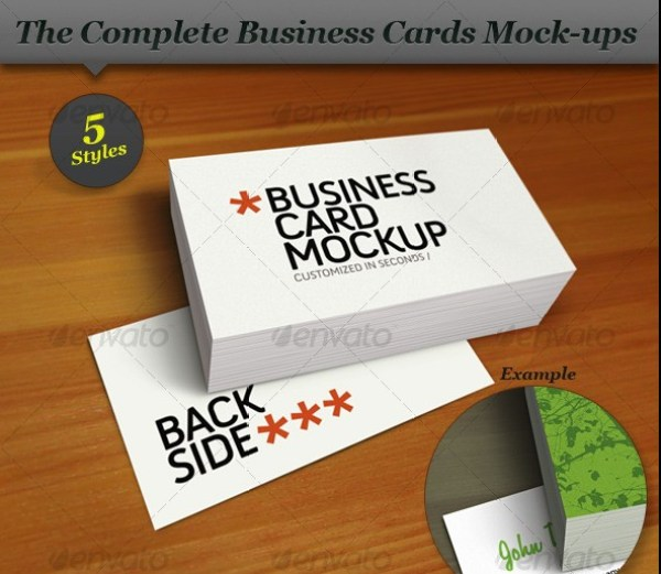 Business Card Mock-up Smart Template Pack