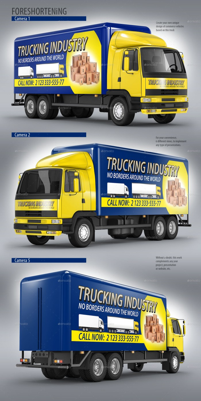 Commercial Truck Carrier Mockup