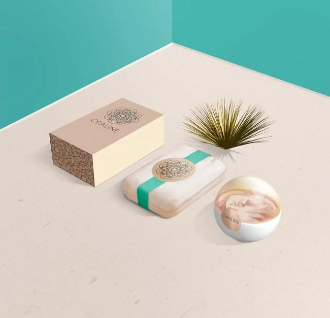 Free Cosmetic Brand Display Mockup