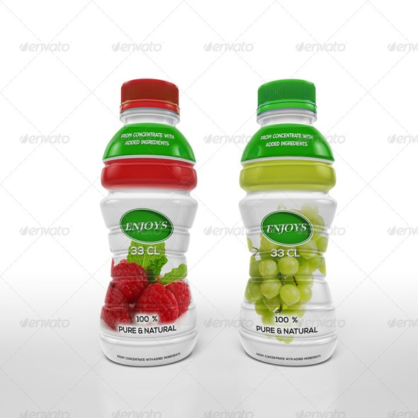 Fruit Juice Bottle Mockup