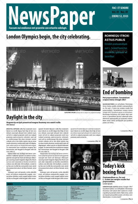 InDesign Newspaper 14 Pages