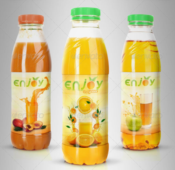 Juice or Tea Bottle Mockup