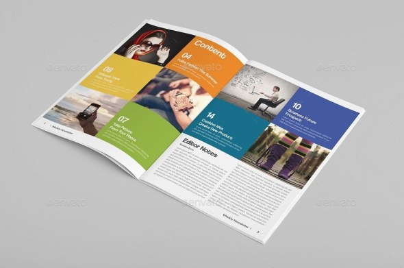 Modern Colorful Newsletter
