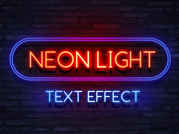 Neon Light Text Effect