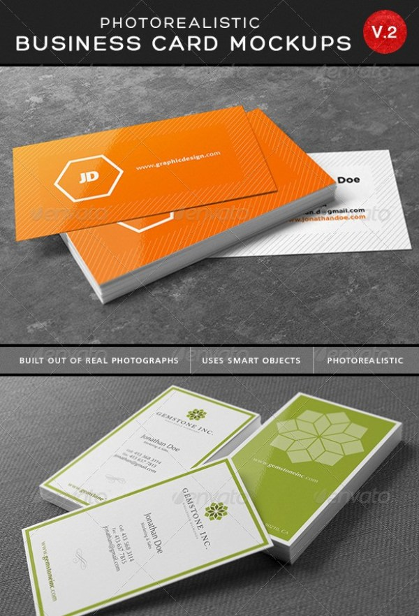 Ultimate Photorealistic Business Card Mockups V2