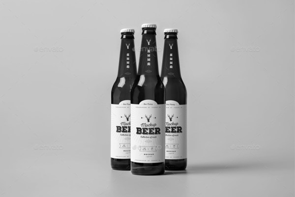 Beer Bottle Mockup