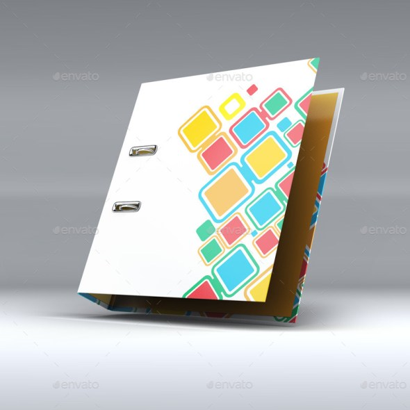 Binder Office Folder Mockup