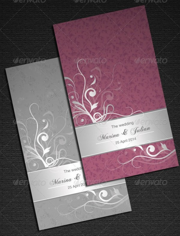 Elegant Floral Wedding Card