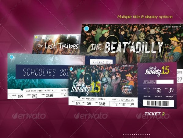 46 Print Ready Ticket Templates PSD for Various Types of Events – Sporting Event Ticket Template