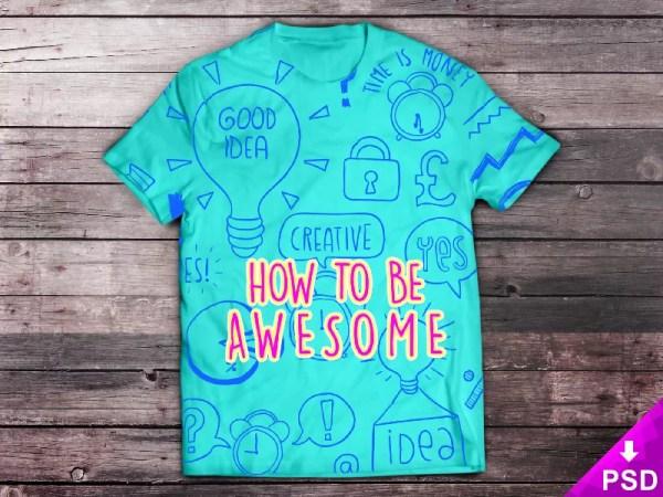 Ücretsiz T-Shirt Mockup