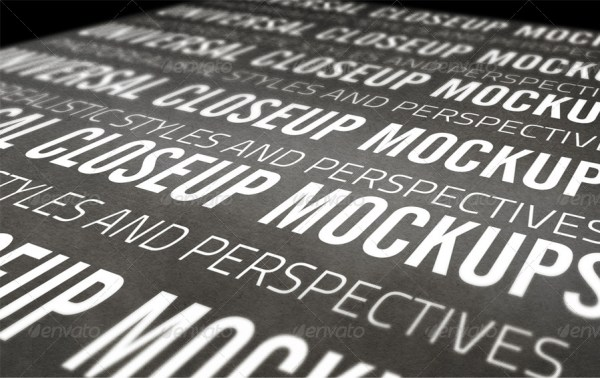 Universal Closeup Mockups