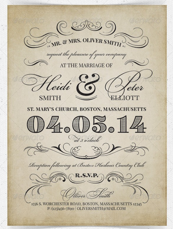 37 awesome psd & indesign wedding invitation template designs for Vintage Wedding Invitation Templates Photoshop vintage wedding invitation vintage wedding invitation templates photoshop