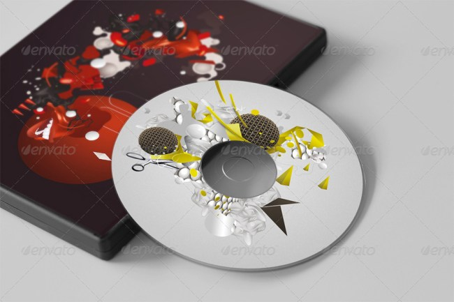 CD / DVD Disc & Cover Mockups