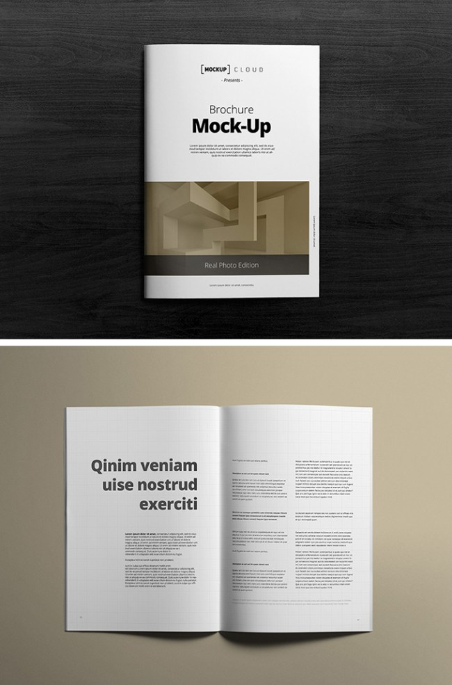 12 free brochure mockup psd download psdtemplatesblog for A4 brochure template psd free download
