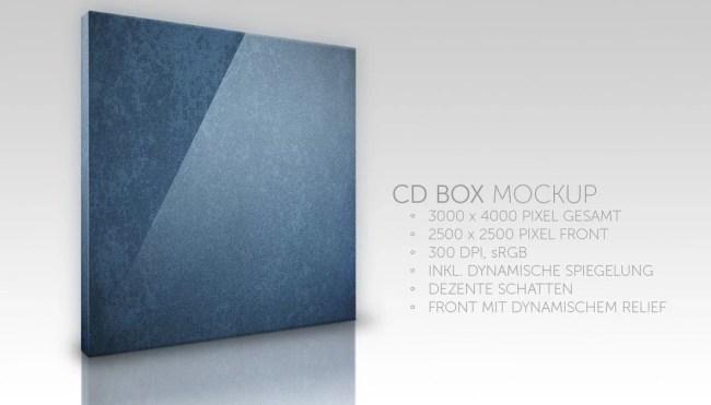 Free CD Box Mockup