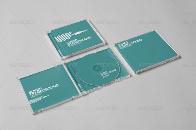 Realistic CD Jewel Case Mockup