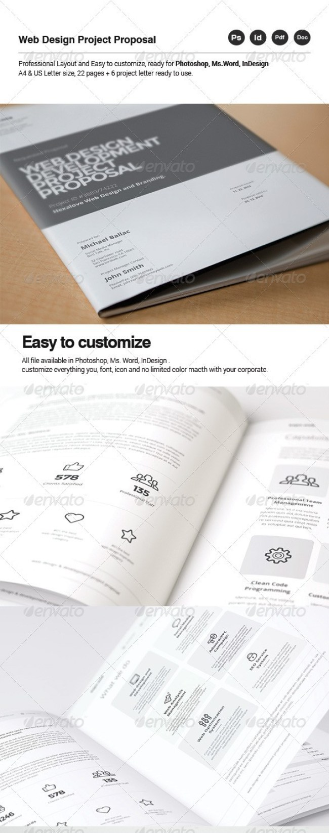 48 Best Business Proposal Templates in InDesign PSD MS Word – Word Templates Proposal