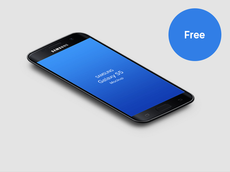 Free Samsung Galaxy S7 MockUp PSD