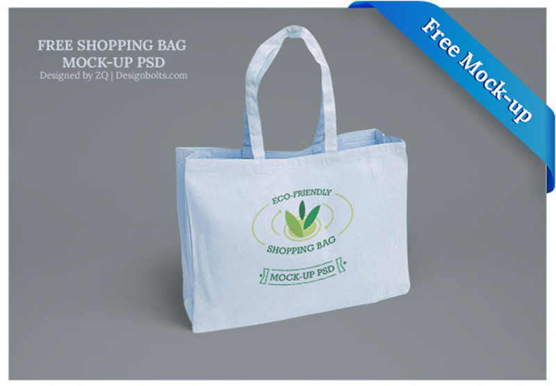 amazing free mockup design shopping bag psd