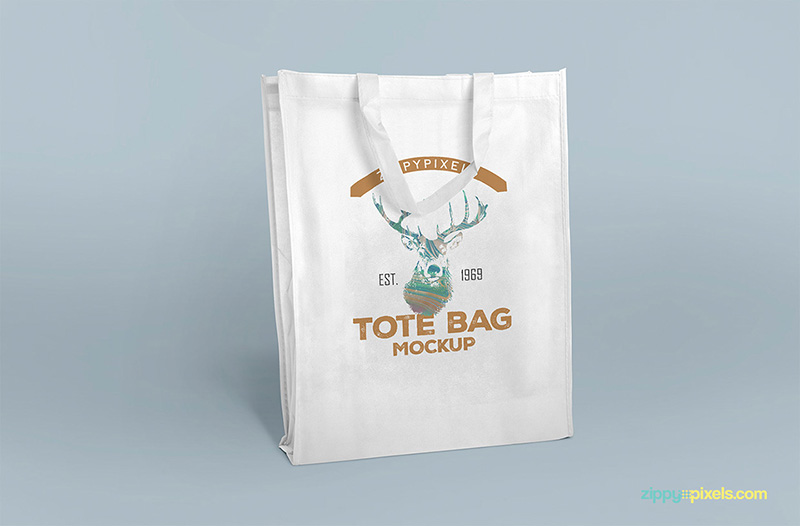 shopping bag tote bag free psd mockup