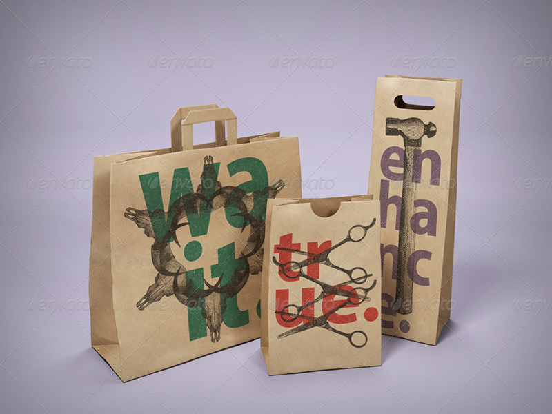 best paper bag mockup psd