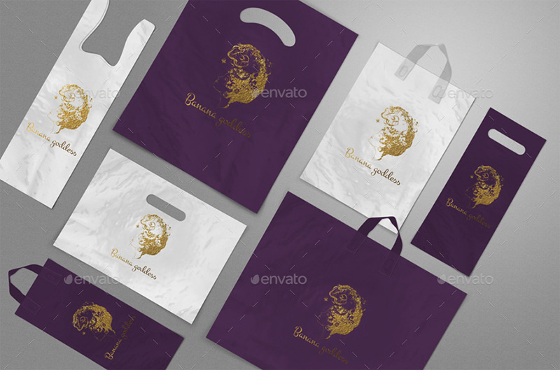 awesome premium shopping bag plastic bag mockup psd template
