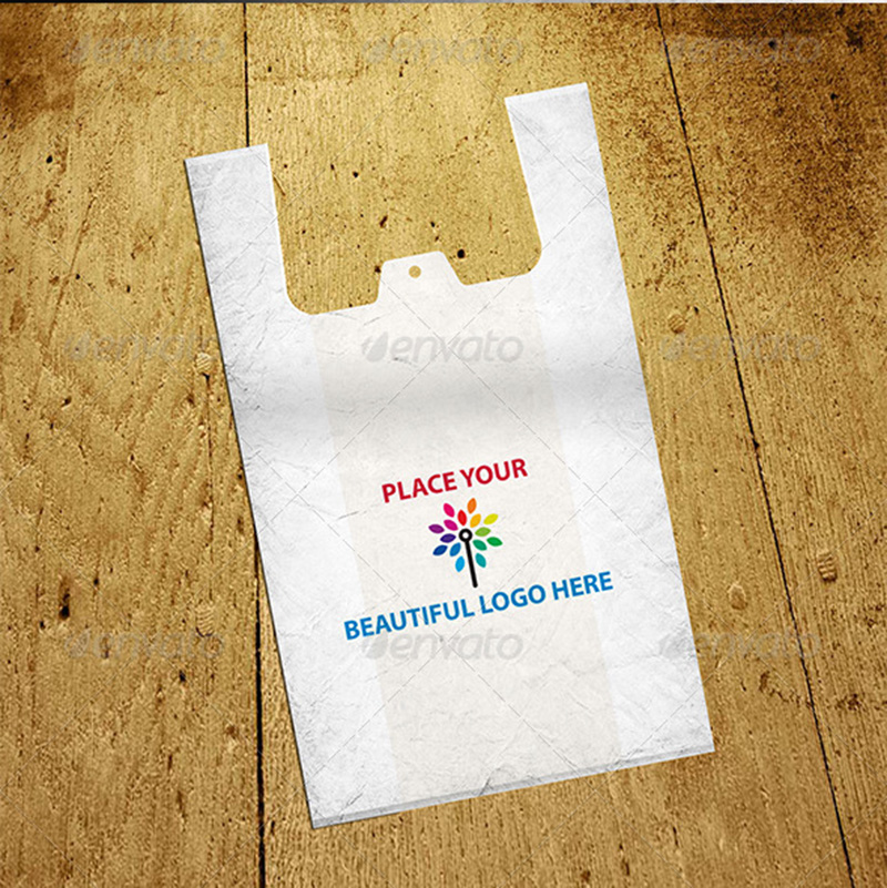 premium shopping polythene bag mockup psd templates