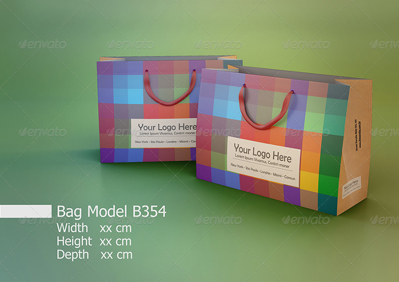 shopping bag premium mockup psd