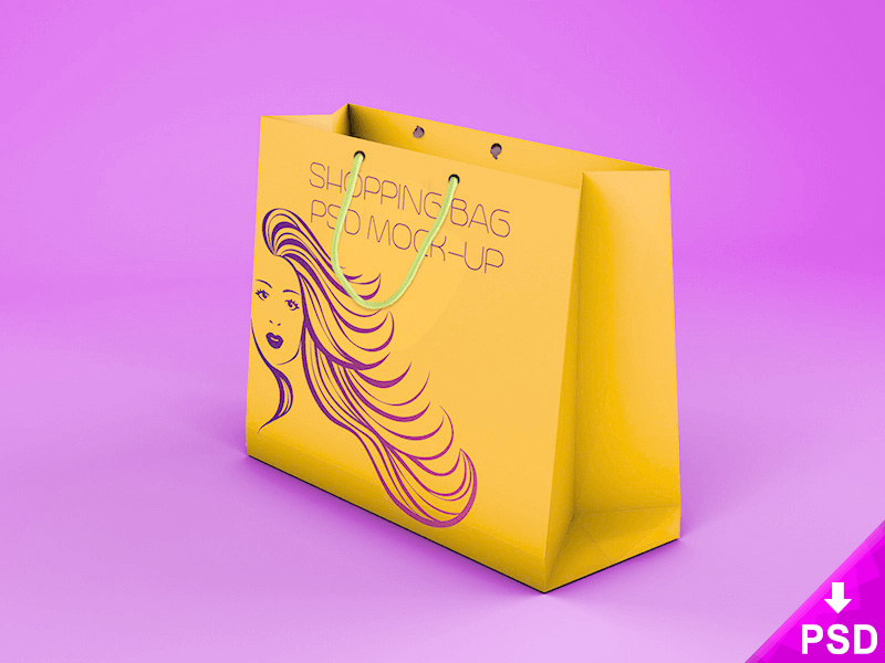 free amazing shopping bag mockup template