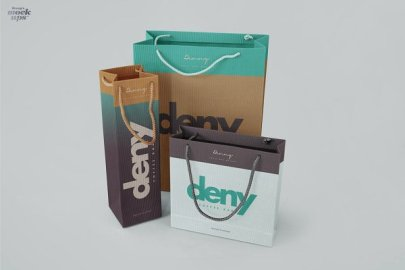 Paper Bags 3 kinds of mockups