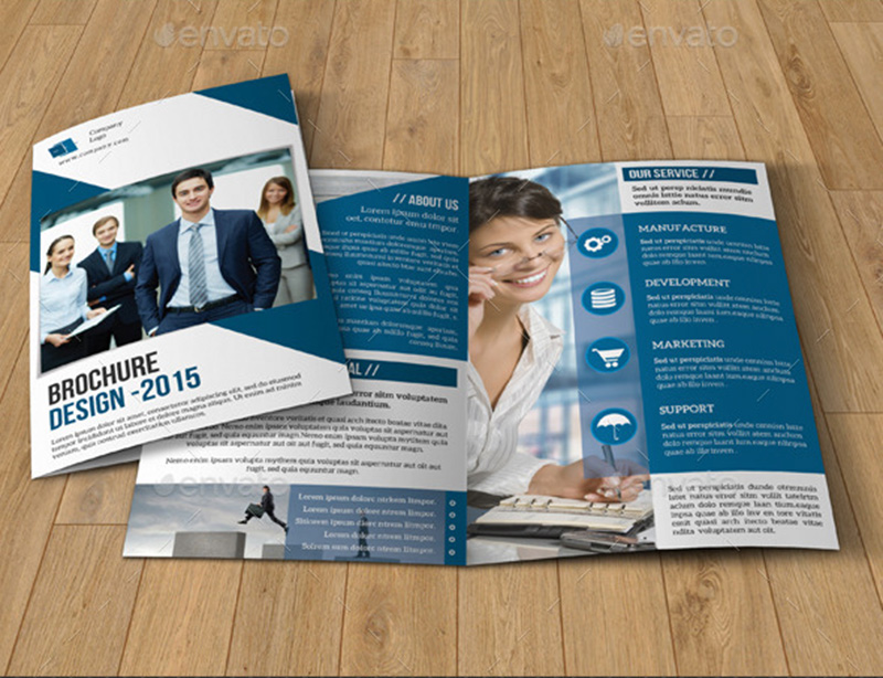 great corporate bifold brochure template psd