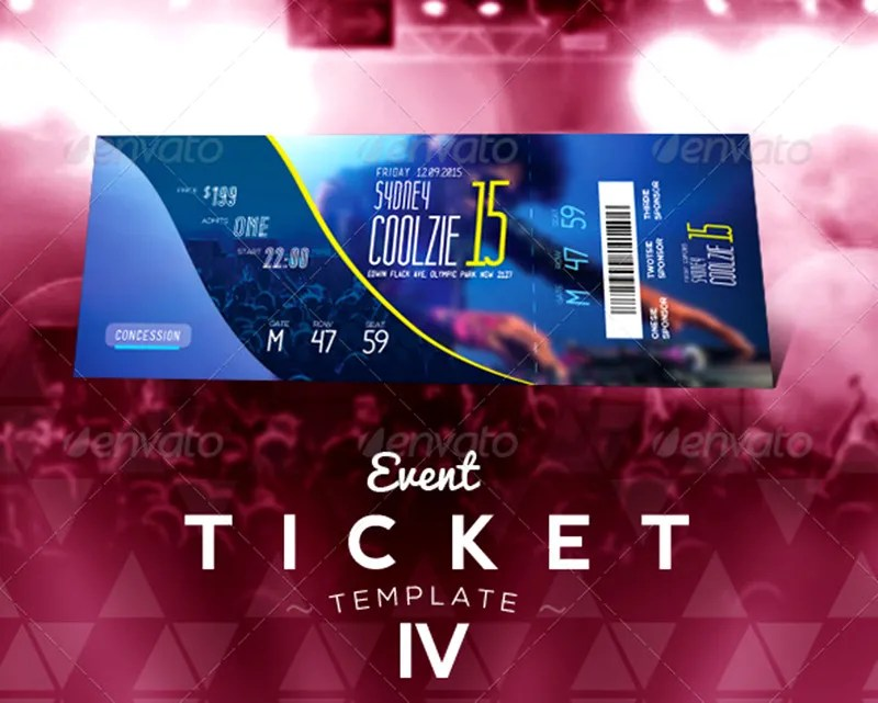 beautiful event ticket design pro template