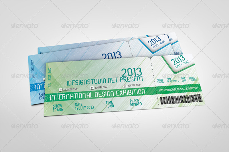 awesome event tickets mockup design psd premium template