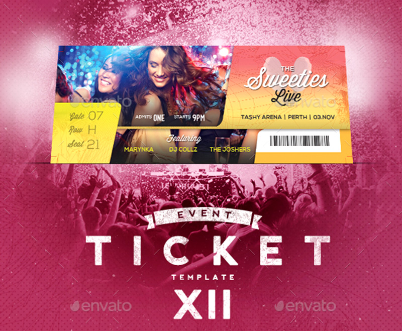 18+ Event Ticket Templates Psd | Psdtemplatesblog