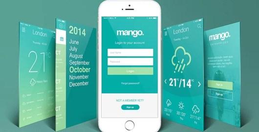 best free mobile app ui kit design