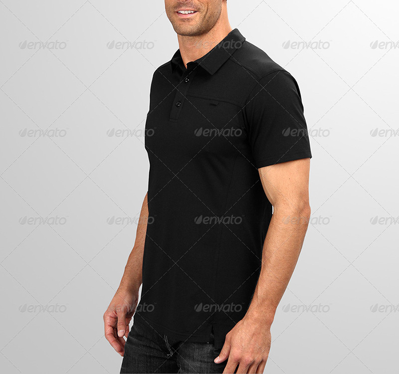nice premium men polo shirt template psd