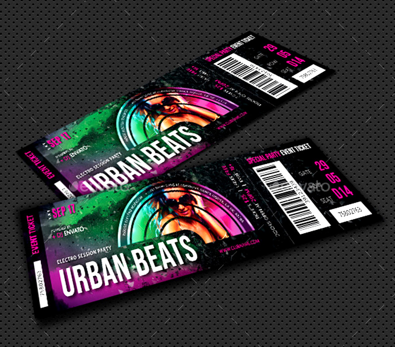 best special premium party ticket template psd