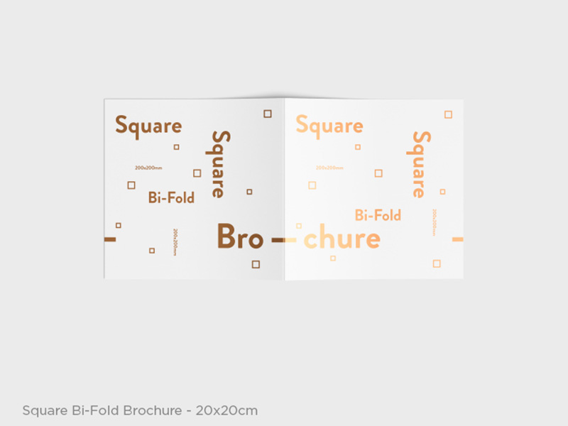 cool Square and Business Flyers Mockups psd template