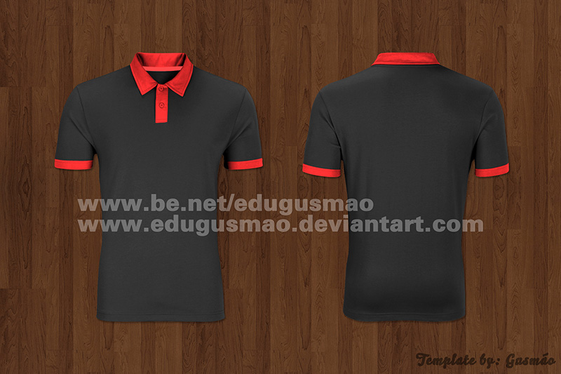 free polo shirt template psd mockup