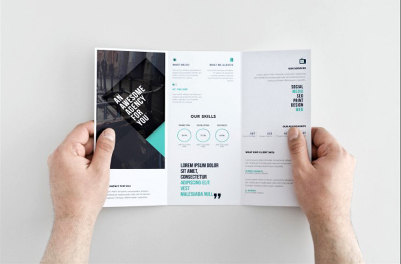 great free business corporate trifold brochure template
