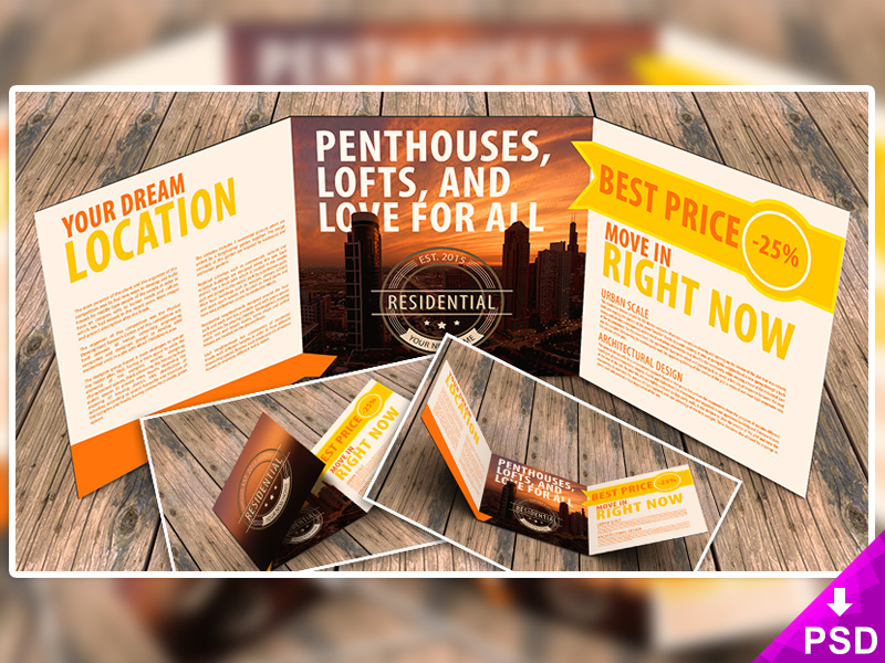 best free business square flyer template mockup psd