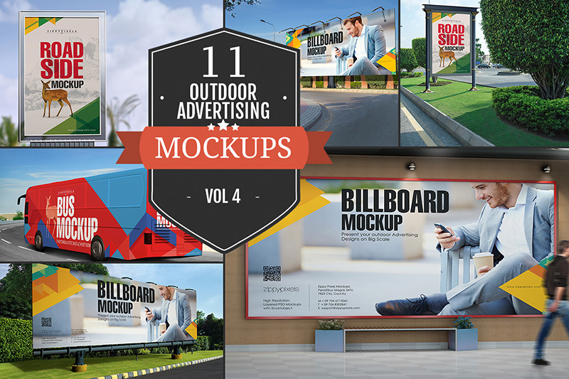 premium outdoor advertising city billboard mockup psd for sale